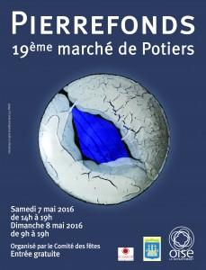 affiche 30x40 marche potiers Pierrefonds 2016
